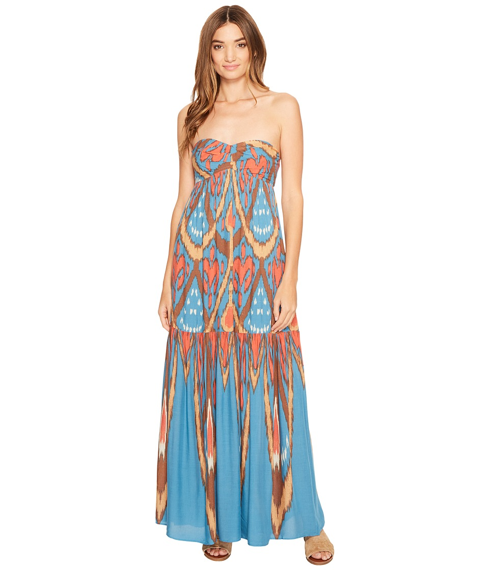 Free People - Mojave Maxi Dress (Blue Combo) Women's Dress