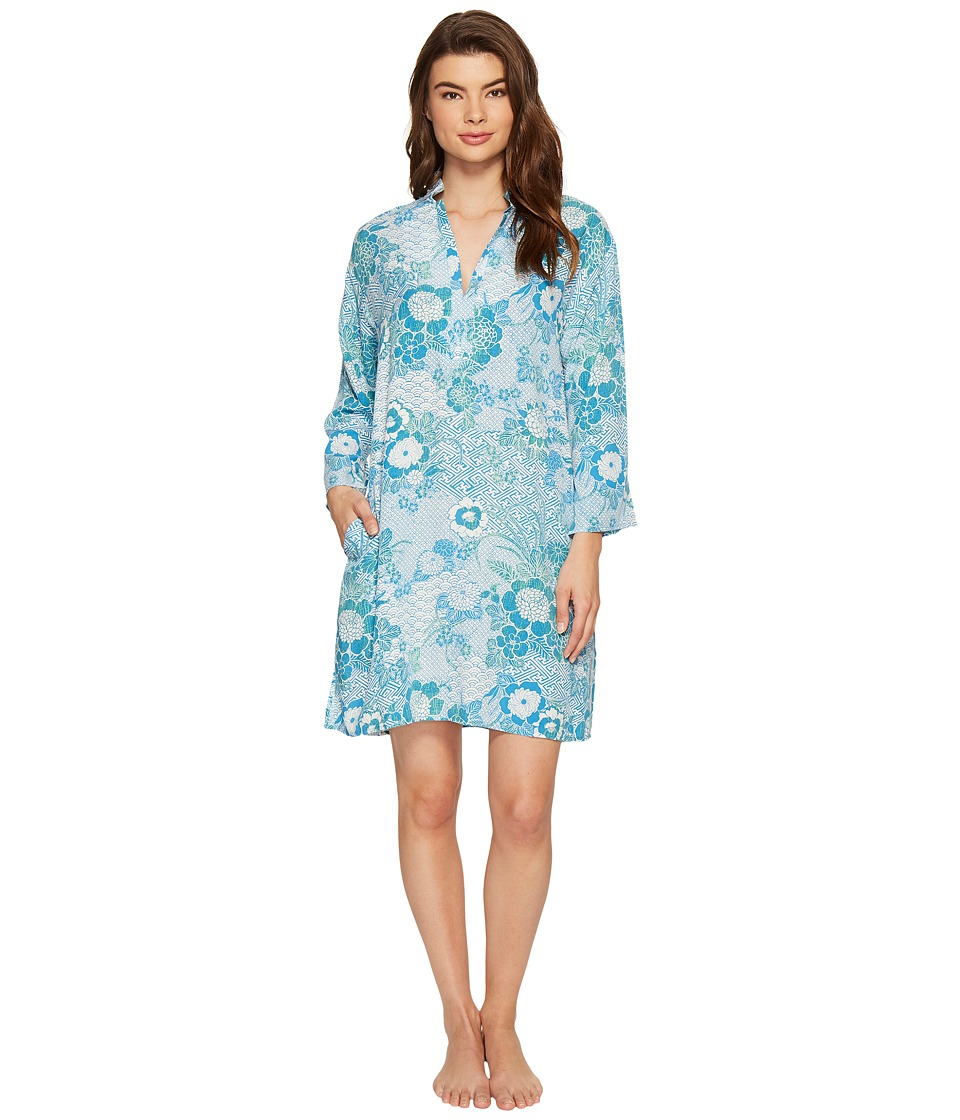 N by Natori - Mandarin Sleepshirt (Light Sky) Women's Pajama