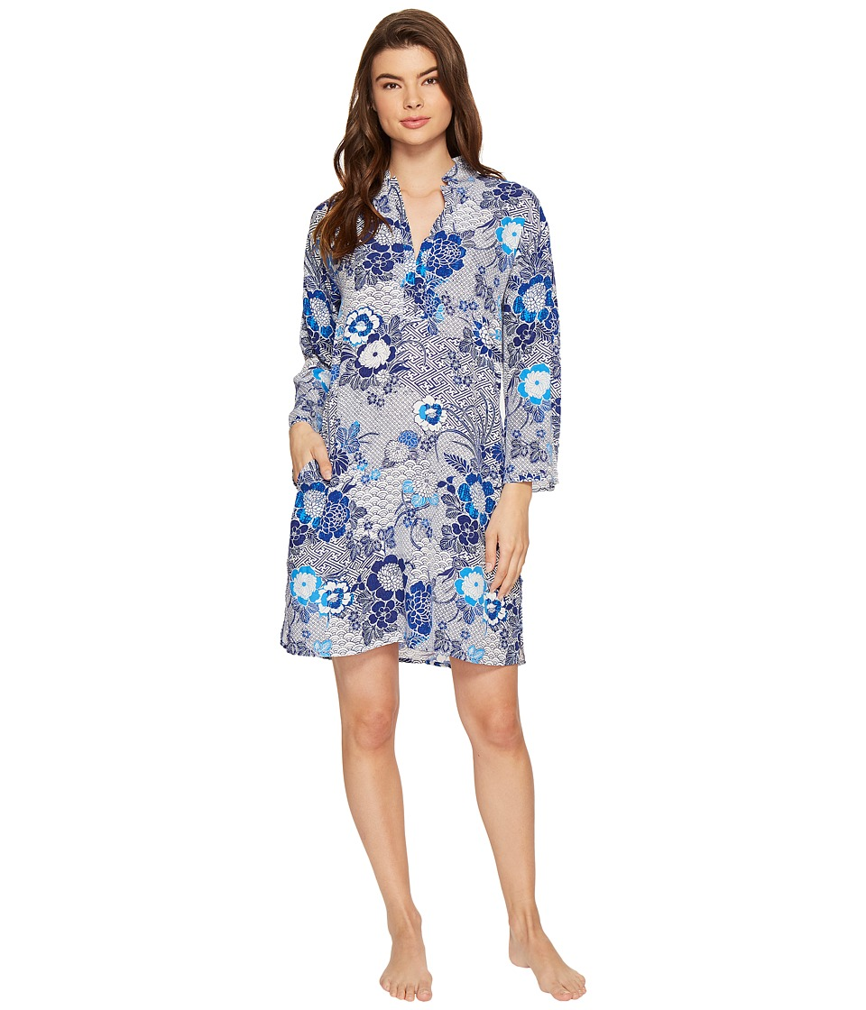 N by Natori - Mandarin Sleepshirt (Navy/Blue) Women's Pajama