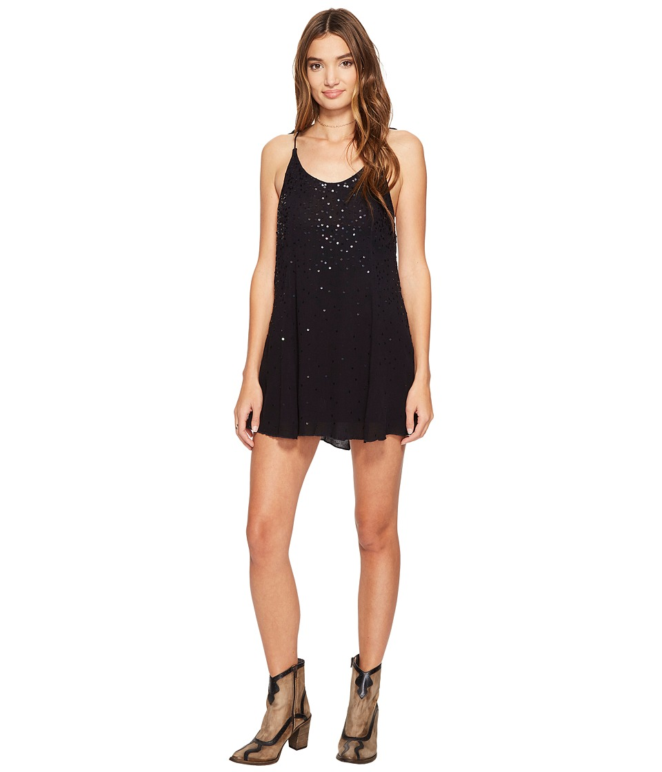 Free People - Just Watch Me Slip Dress (Black) Women's Dress