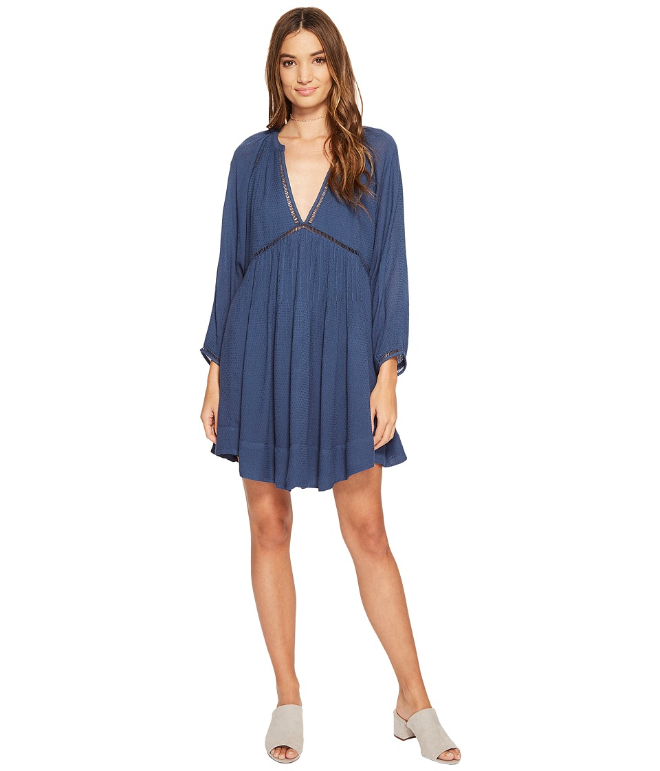 Free People - Go Lightly Mini Dress (Blue) Women's Dress