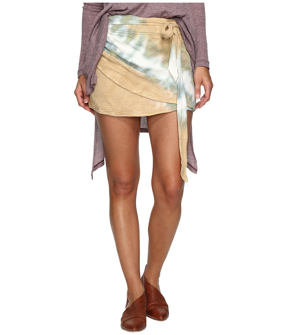 Free People - When the Tide Turns Mini Skirt (Sand) Women's Skirt