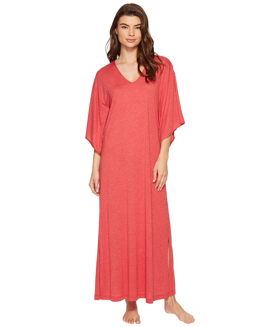 N by Natori - Congo Caftan (Heather Medallion Red) Women's Robe