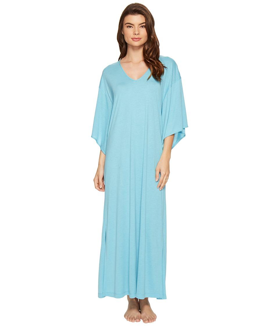 N by Natori - Congo Caftan (Heather Sky) Women's Robe