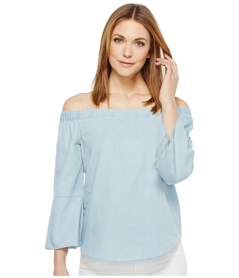 Calvin Klein Jeans - Denim Off Shoulder Top (Ryan Light) Women's Long Sleeve Pullover