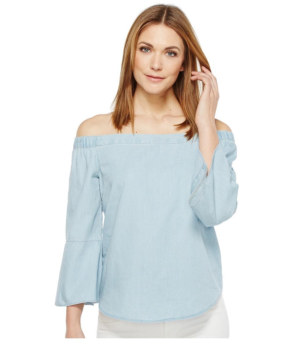 Calvin Klein Jeans - Denim Off Shoulder Top (Ryan Light) Women's Long Sleeve Pullover