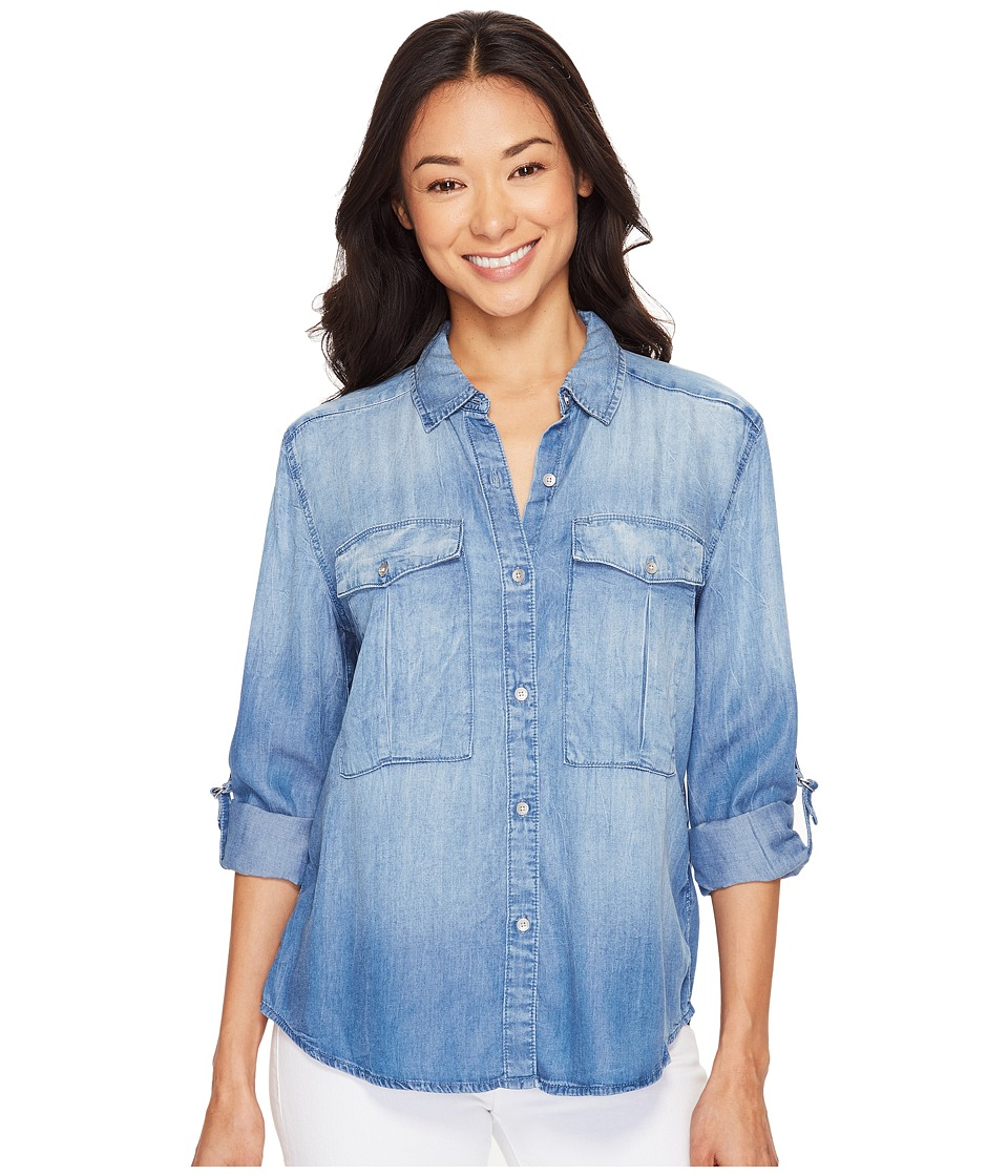 Calvin Klein Jeans - Utility Lyocell Shirt (Crumpled Cole) Women's Clothing
