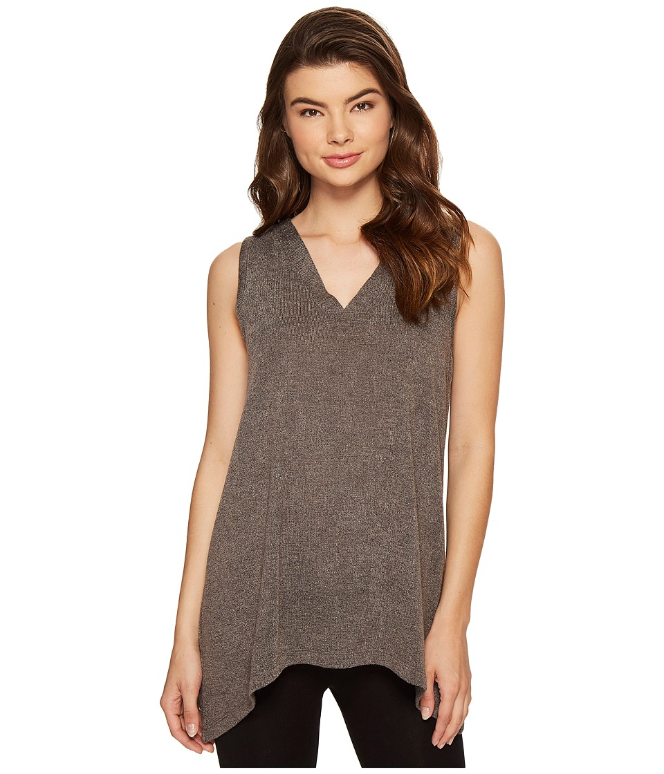 N by Natori - Sweater Knit Swing Top (Heather Grey) Women's Pajama