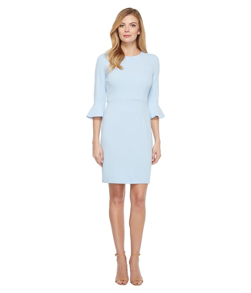Donna Morgan - 3/4 Bell Sleeve Sheath Dress (Powder Blue) Women's Dress
