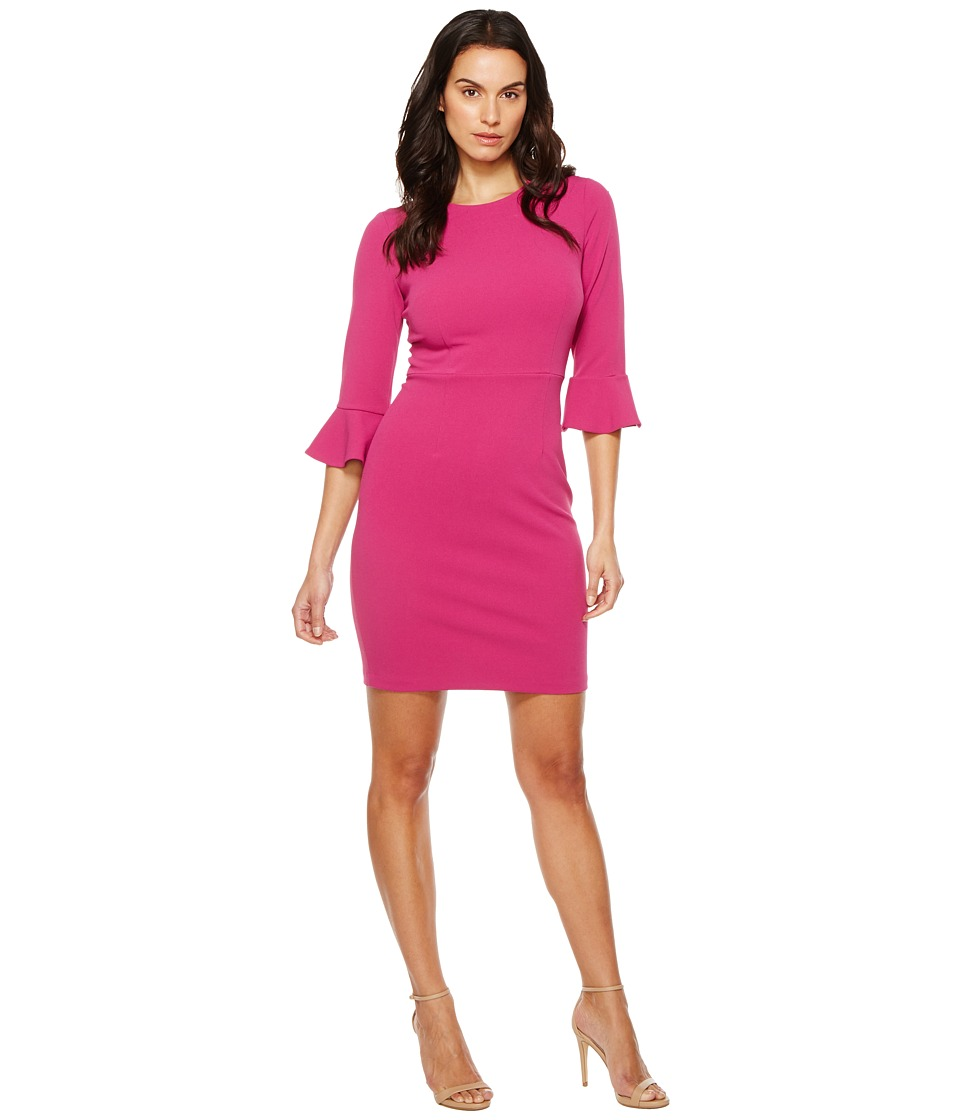 Donna Morgan - 3/4 Bell Sleeve Sheath Dress (Raspberry) Women's Dress