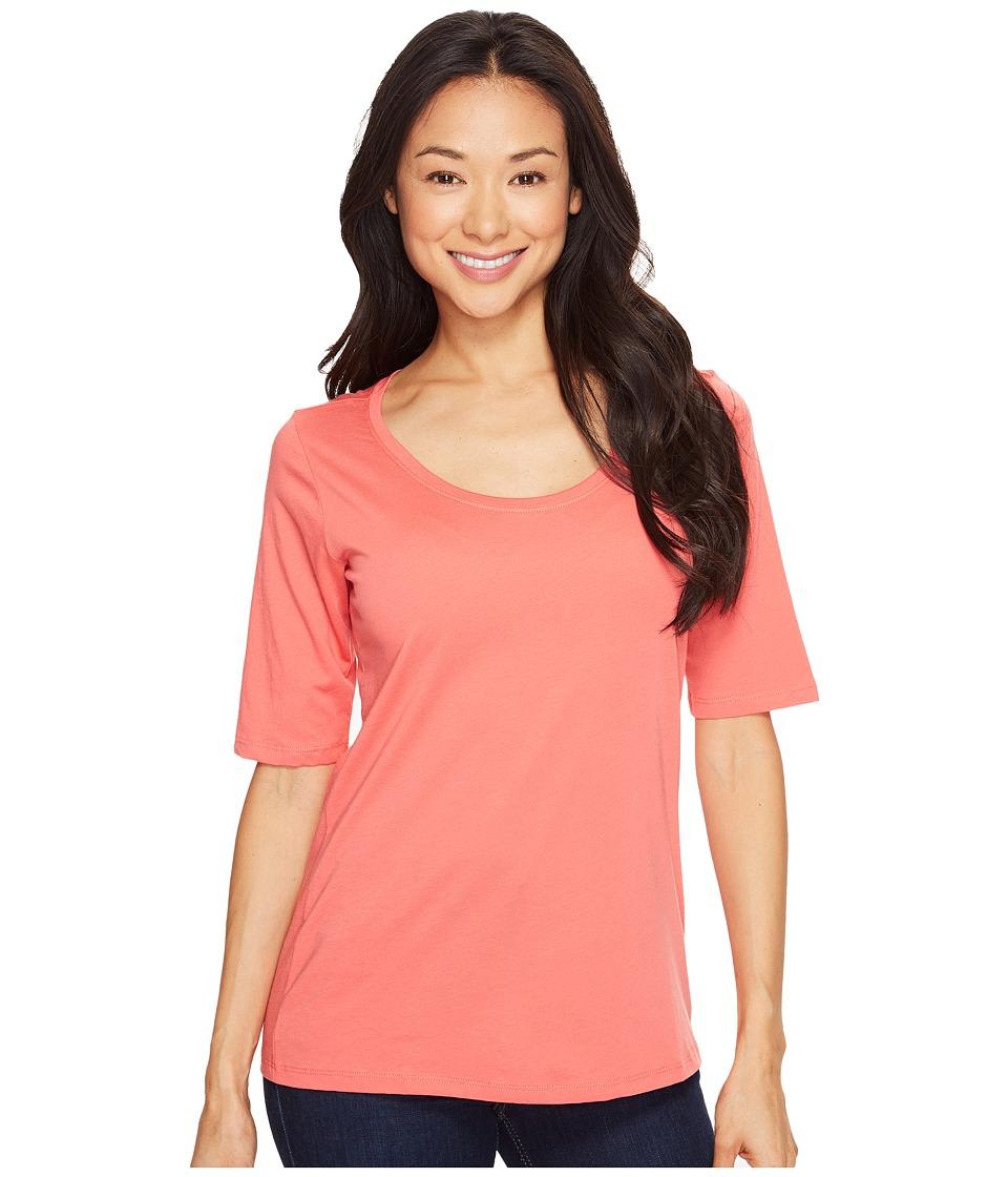 Pendleton - Perfect Pima Tee (Coral Pink) Women's T Shirt