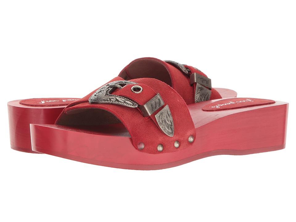 Free People Westtown Slide Clog (Red) Women