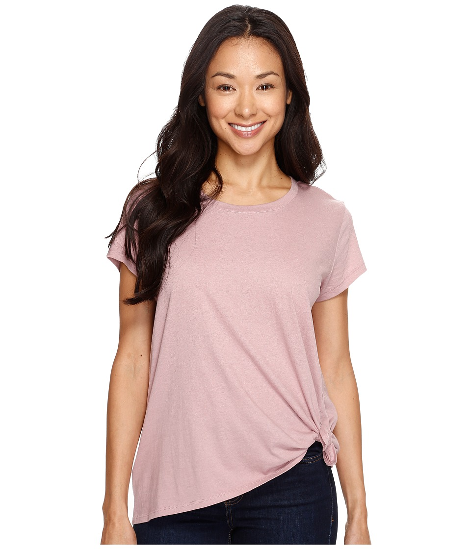 Calvin Klein Jeans Tie Knot Tee (Evening Rose) Women