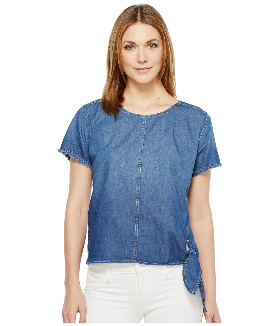 Calvin Klein Jeans - Raw Edge Denim T-Shirt (Brady Mid) Women's T Shirt
