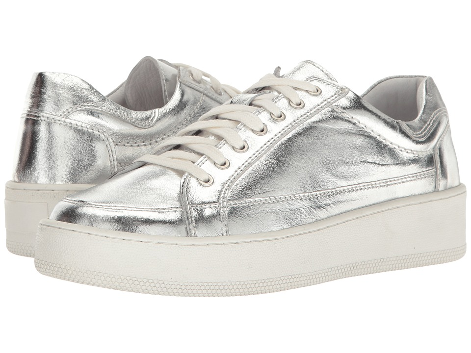 Free People - Letterman Sneaker (Silver) Women's Lace up casual Shoes