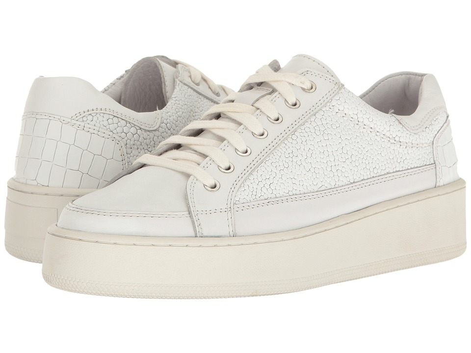 Free People - Letterman Sneaker (White) Women's Lace up casual Shoes