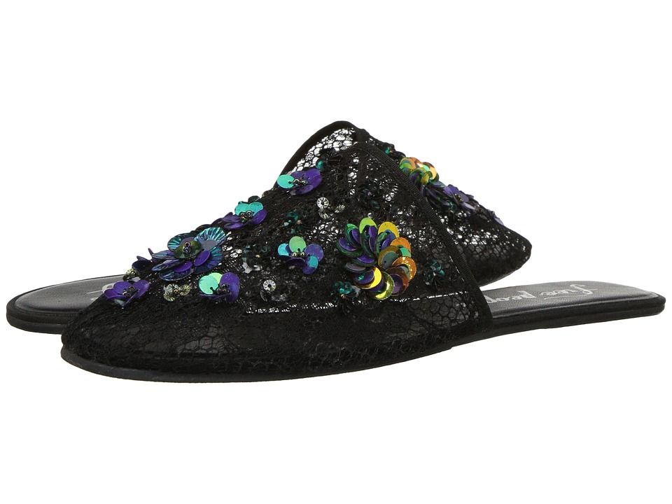 Free People - Allure Slipper (Black) Women's Slip on Shoes