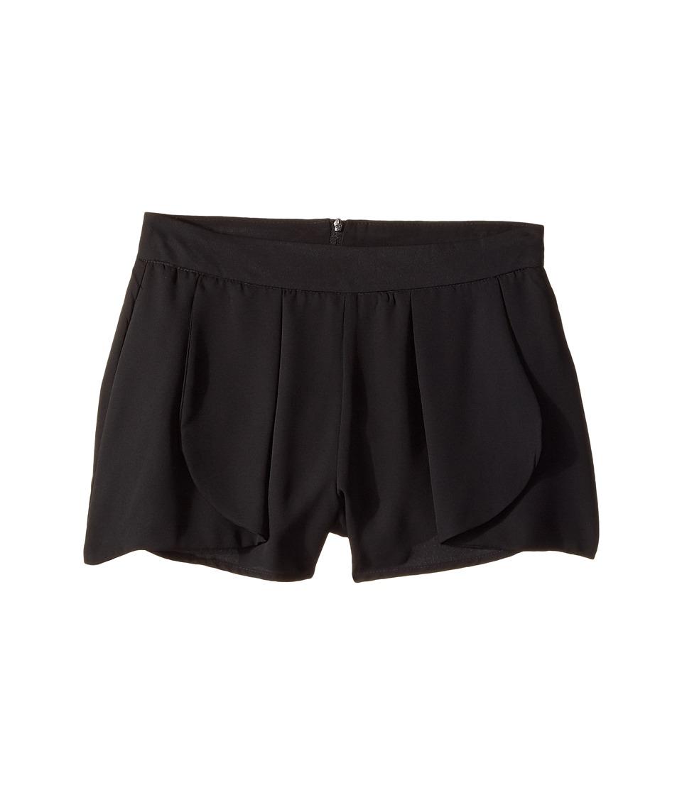 Ella Moss Girl - Cici Chiffon Shorts (Big Kids) (Black) Girl's Shorts