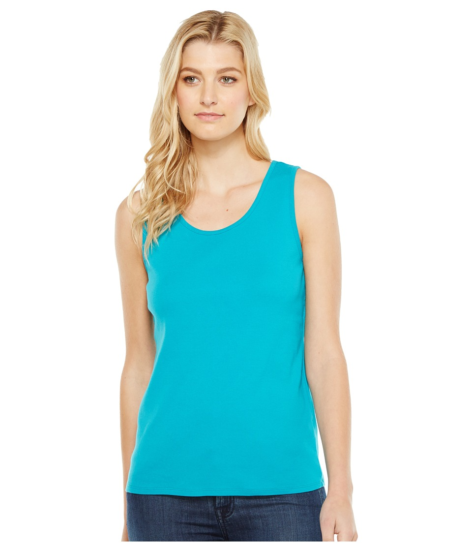 Pendleton - Rib Tank Top (Tile Blue) Women's Sleeveless