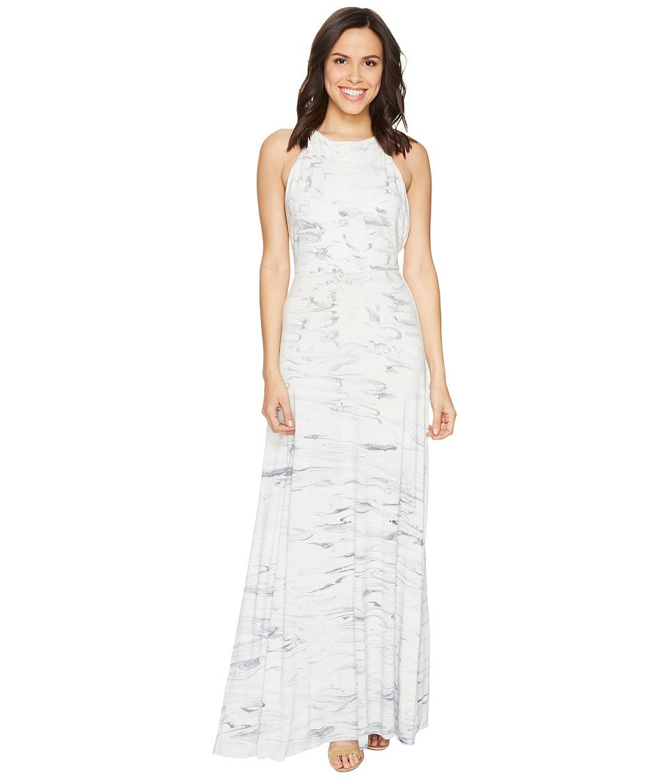 Young Fabulous & Broke - Megan Maxi (Ink Marble) Women's Dress