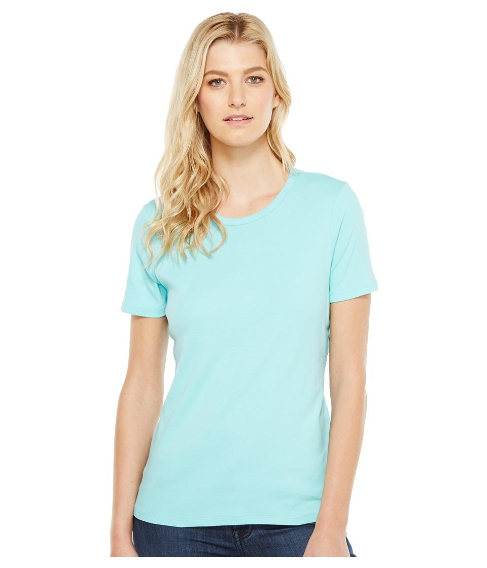 Pendleton - S/S Rib Tee (Aqua Sky) Women's T Shirt