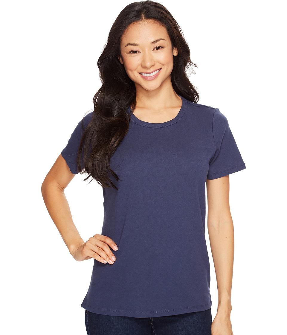 Pendleton - S/S Rib Tee (Indigo) Women's T Shirt