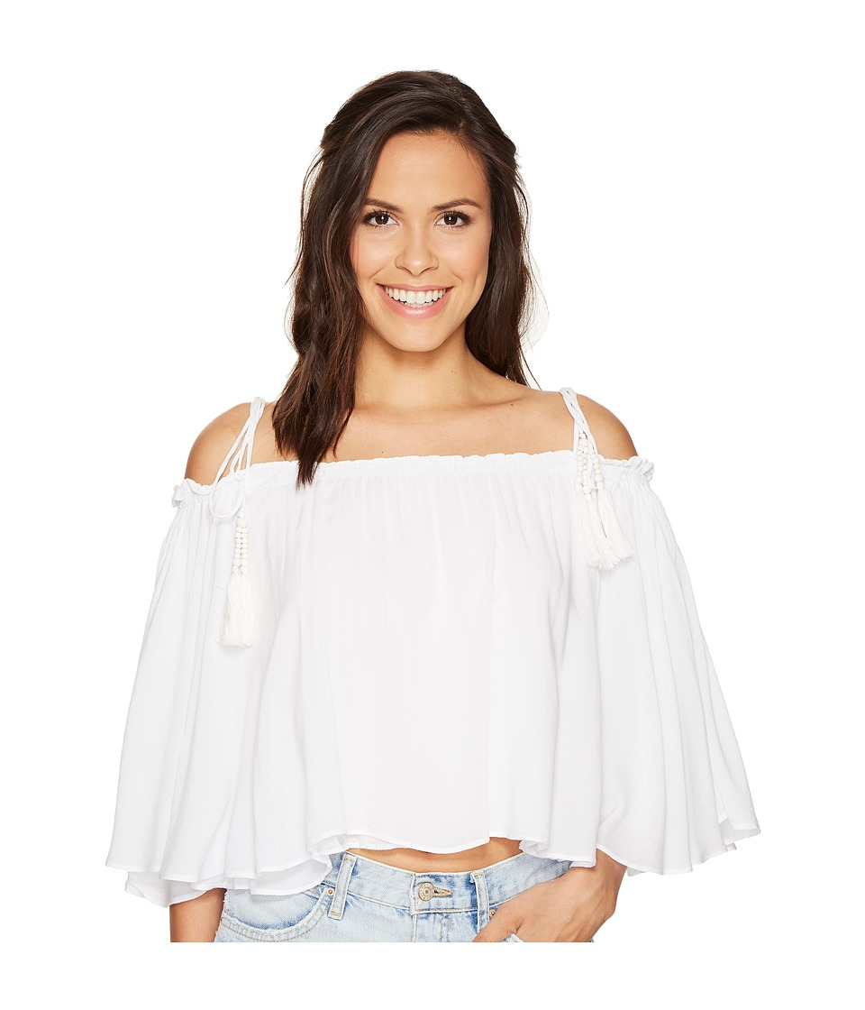 Young Fabulous & Broke - Indi Top (Solid White) Women's Clothing
