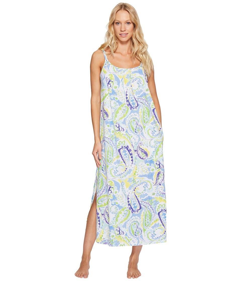 LAUREN Ralph Lauren - Paisley Maxi Gown (Blue Paisley) Women's Pajama