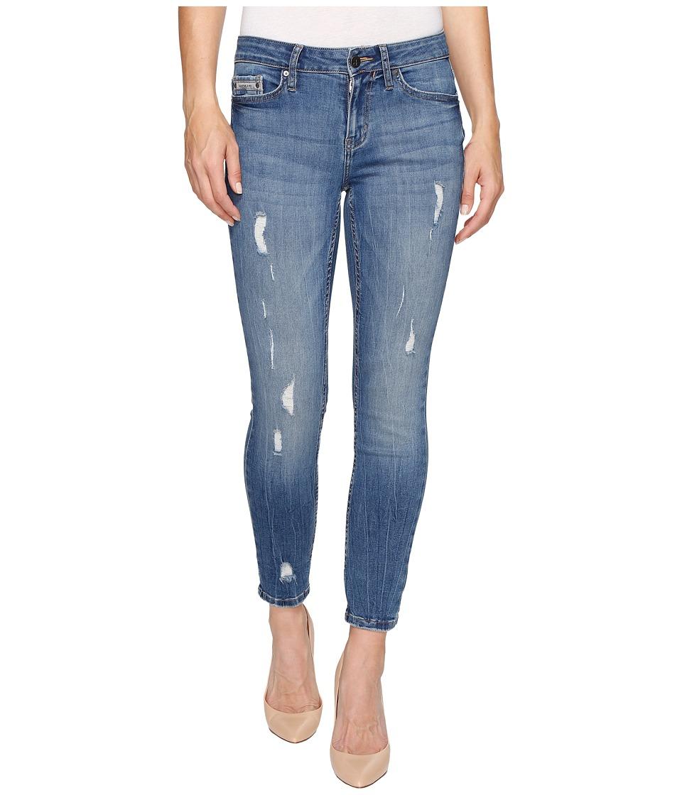Calvin Klein Jeans - Ankle Skinny Jeans in Ocean Destructed Wash (Ocean Destructe) Women's Jeans