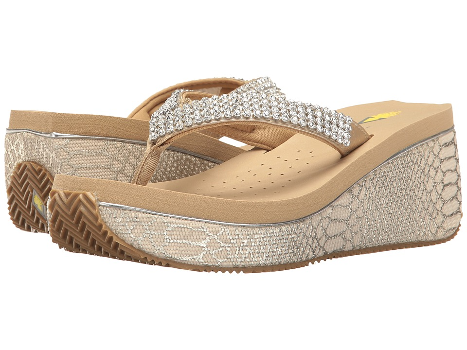 VOLATILE - Crystal (Gold) Women's Sandals