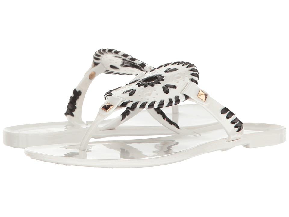 Jack Rogers - Georgica Jelly (White/Black) Women's Sandals