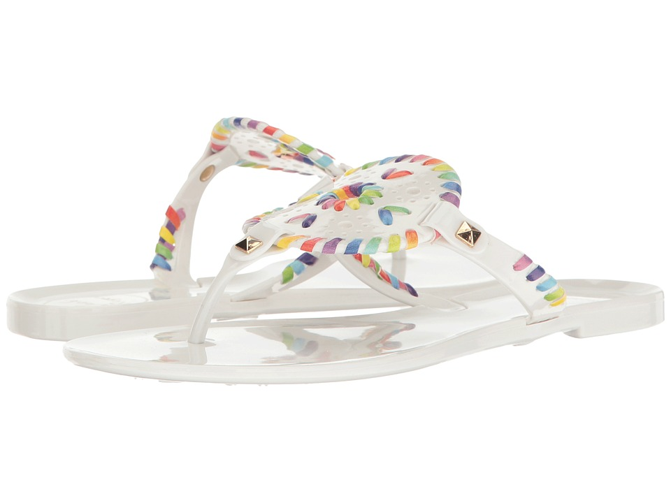 Jack Rogers - Georgica Jelly (White/Rainbow) Women's Sandals