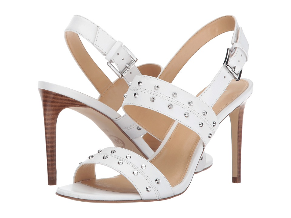 MICHAEL Michael Kors - Astor Sandal (Optic White) Women's Toe Open Shoes