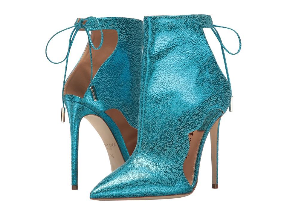 Racine Carr e - Jamila (Black/Green Printed Leather) High Heels