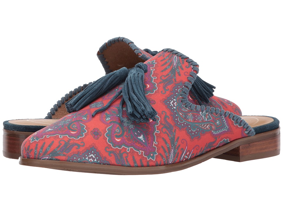 Jack Rogers Delaney (Orange Paisley Textile) Women