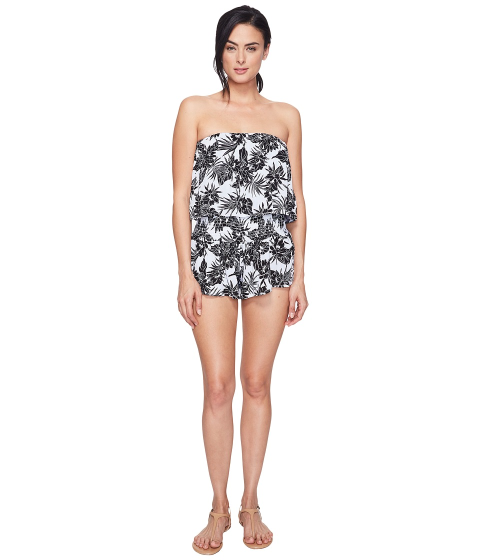 Spiritual Gangster - Ruffle Romper (Island Lotus) Women's Jumpsuit & Rompers One Piece