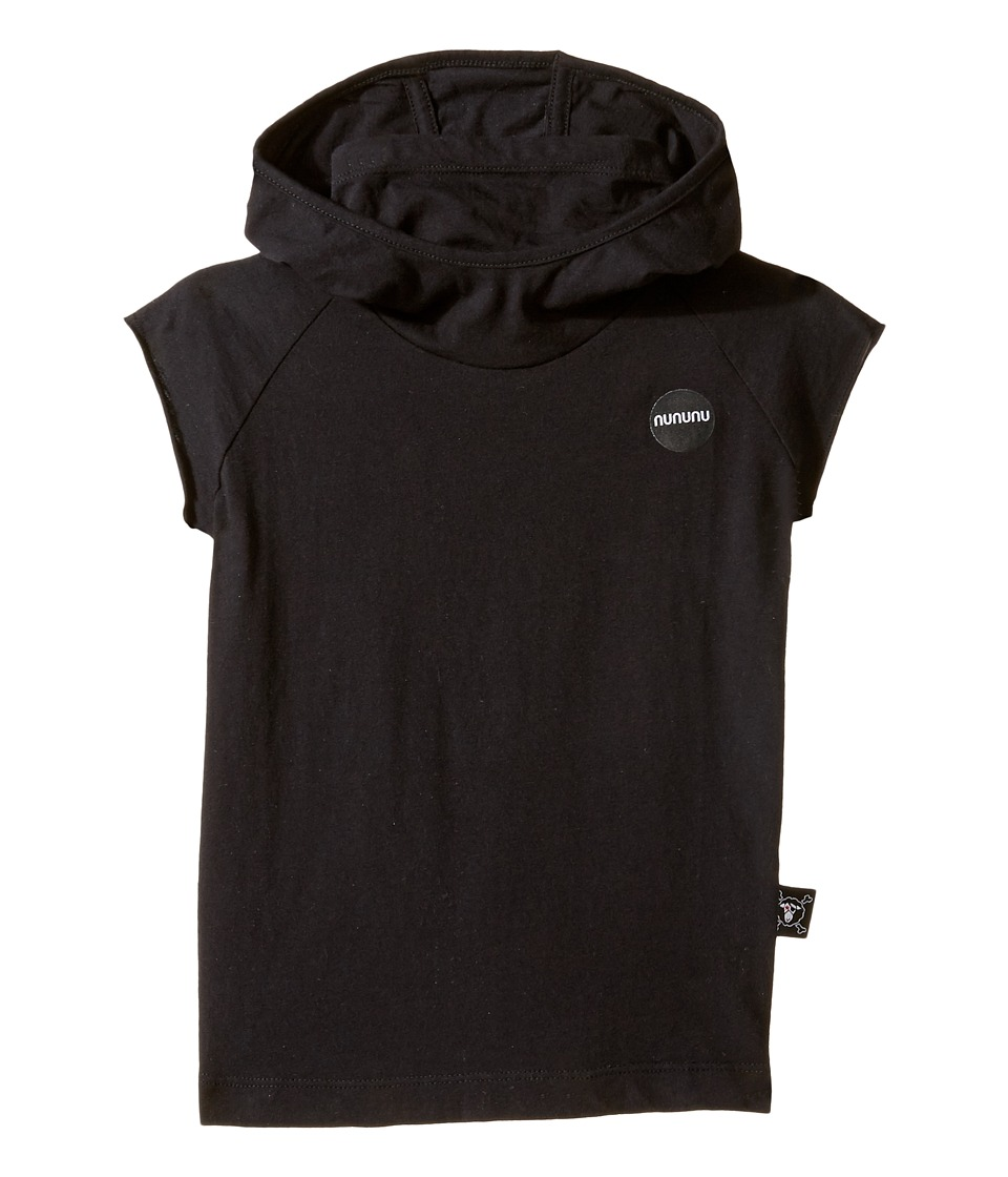 Nununu - Hooded Ninja Shirt (Toddler/Little Kids) (Black) Kid's Clothing