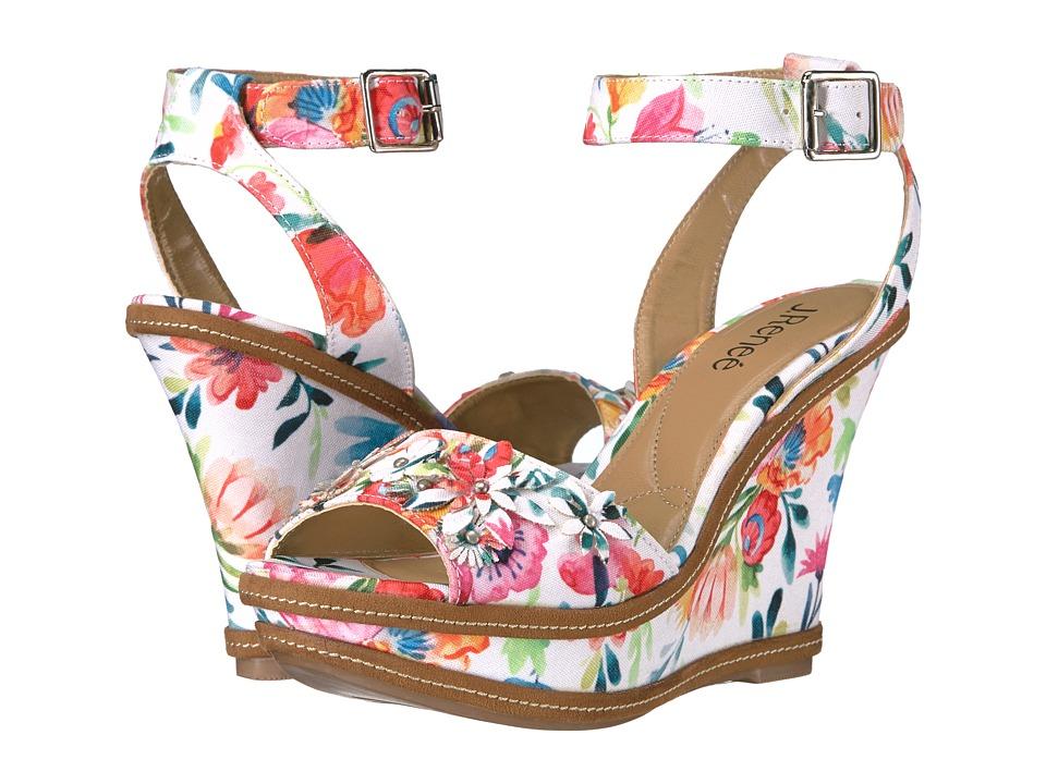 J. Renee - Alawna (White/Bright Multi) Women's Sandals