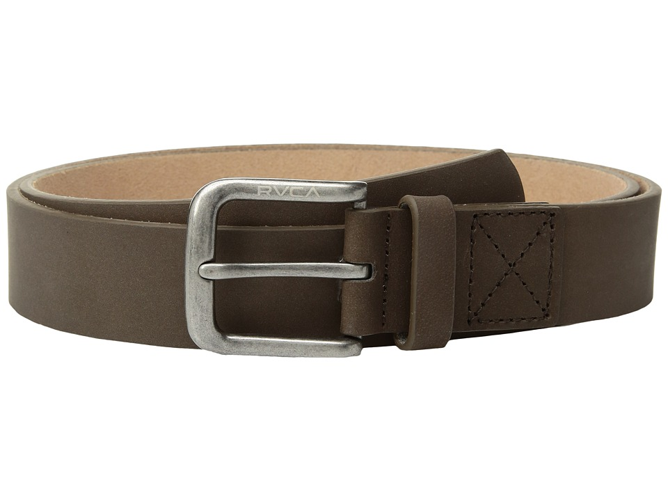 RVCA Bundy Leather Belt (Dark Brown) Men
