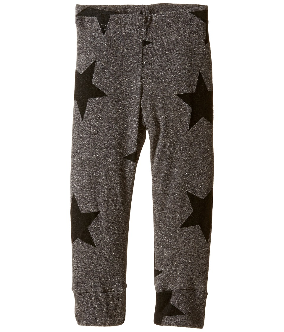 Nununu - Star Leggings (Infant/Toddler/Little Kids) (Charcoal 1) Kid's Casual Pants