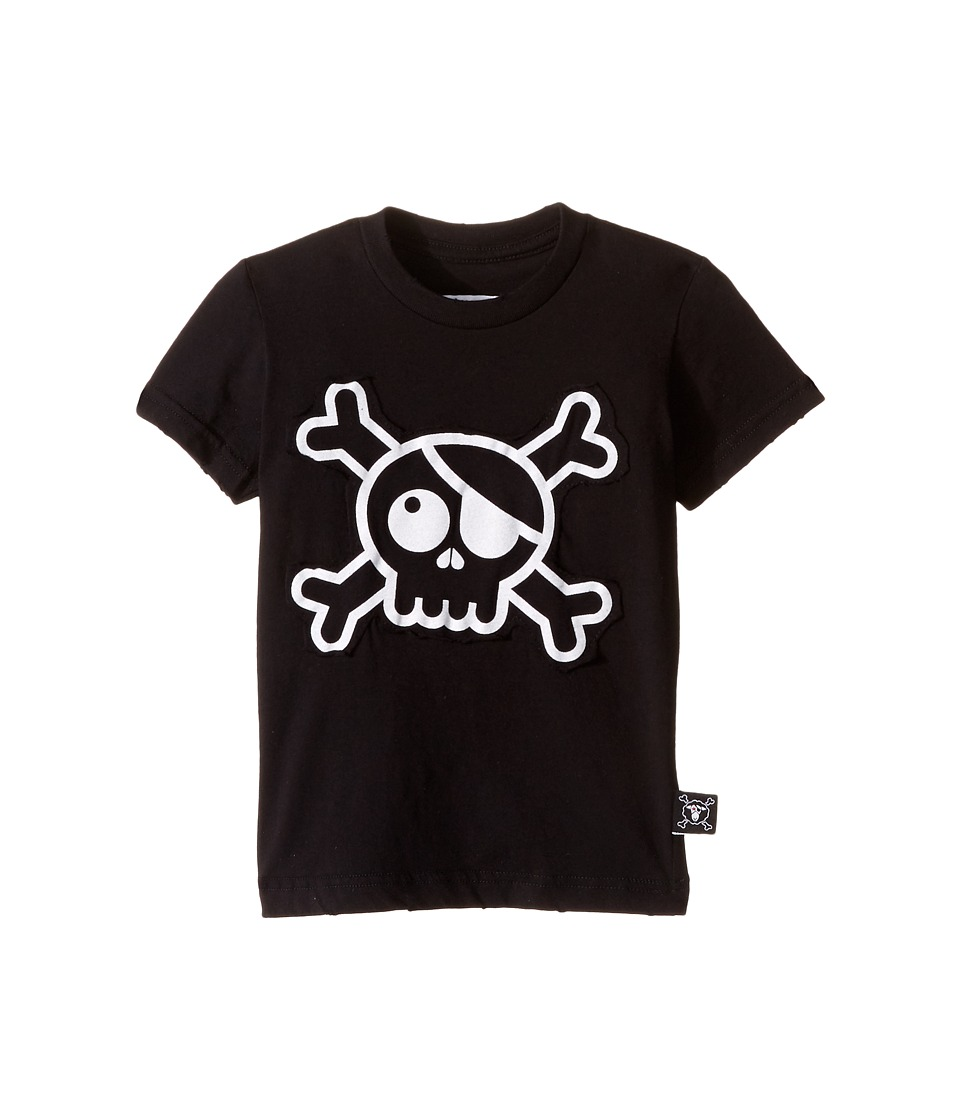 Nununu - Skull Patch T-Shirt (Infant/Toddler/Little Kids) (Black) Kid's T Shirt