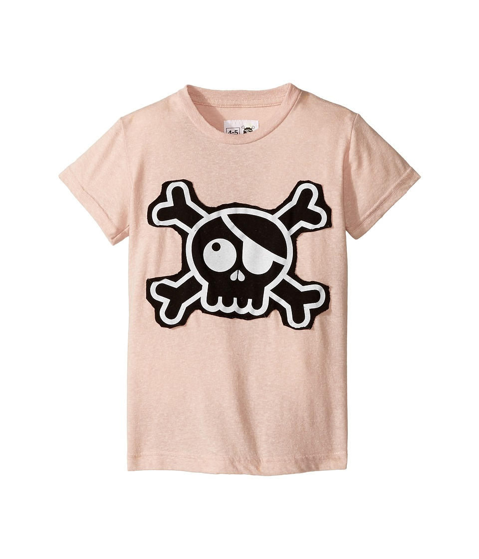 Nununu - Skull Patch T-Shirt (Infant/Toddler/Little Kids) (Powder Pink) Kid's T Shirt