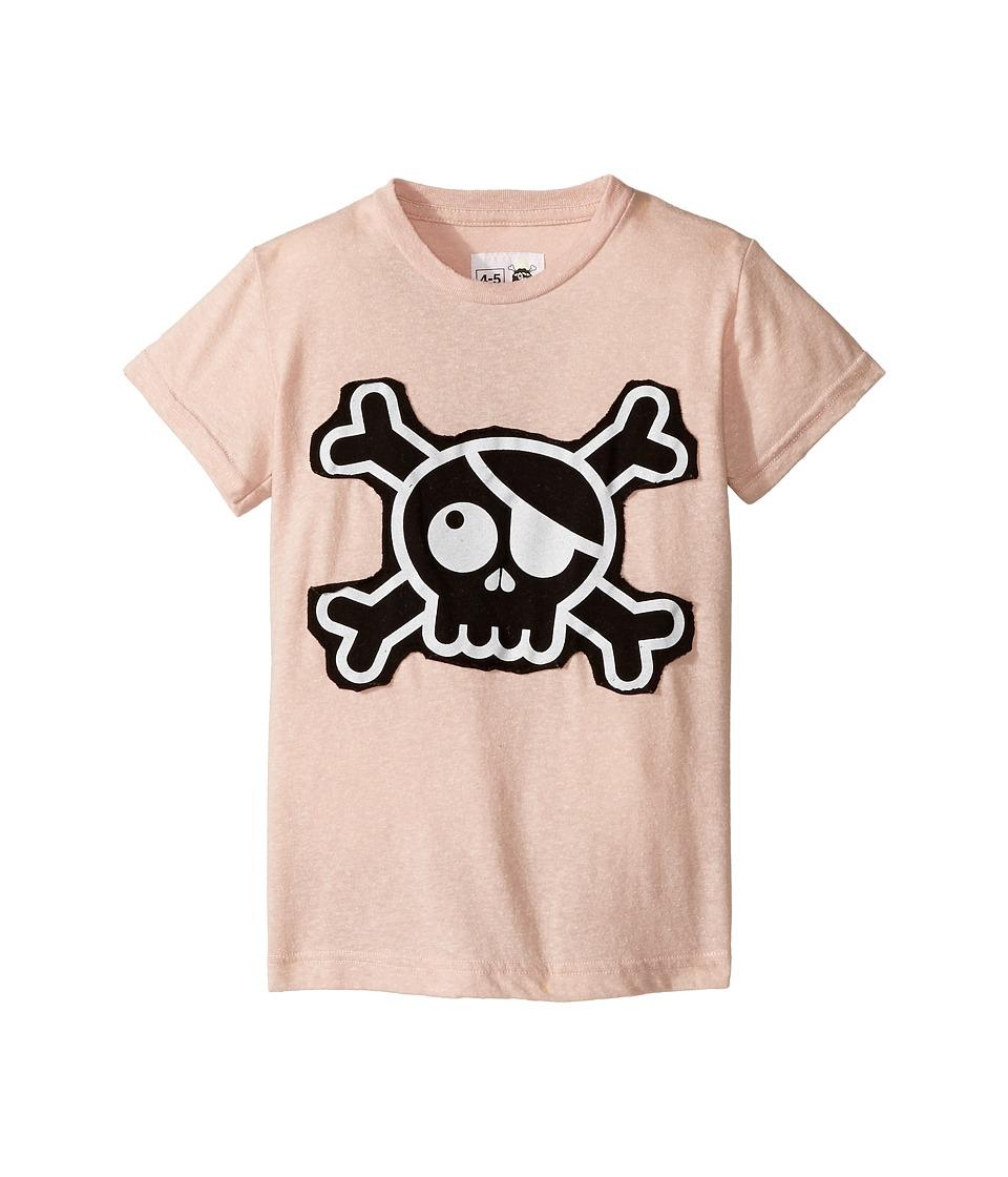 Nununu - Skull Patch T-Shirt (Infant/Toddler/Little Kids) (Powder Pink) Kid's T Shirt