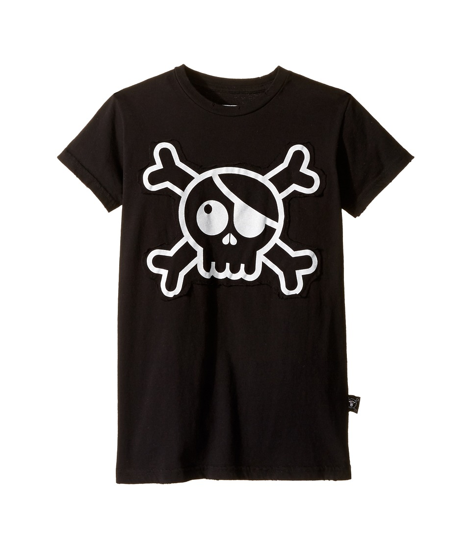 Nununu - Skull Patch T-Shirt (Little Kids/Big Kids) (Black) Kid's T Shirt