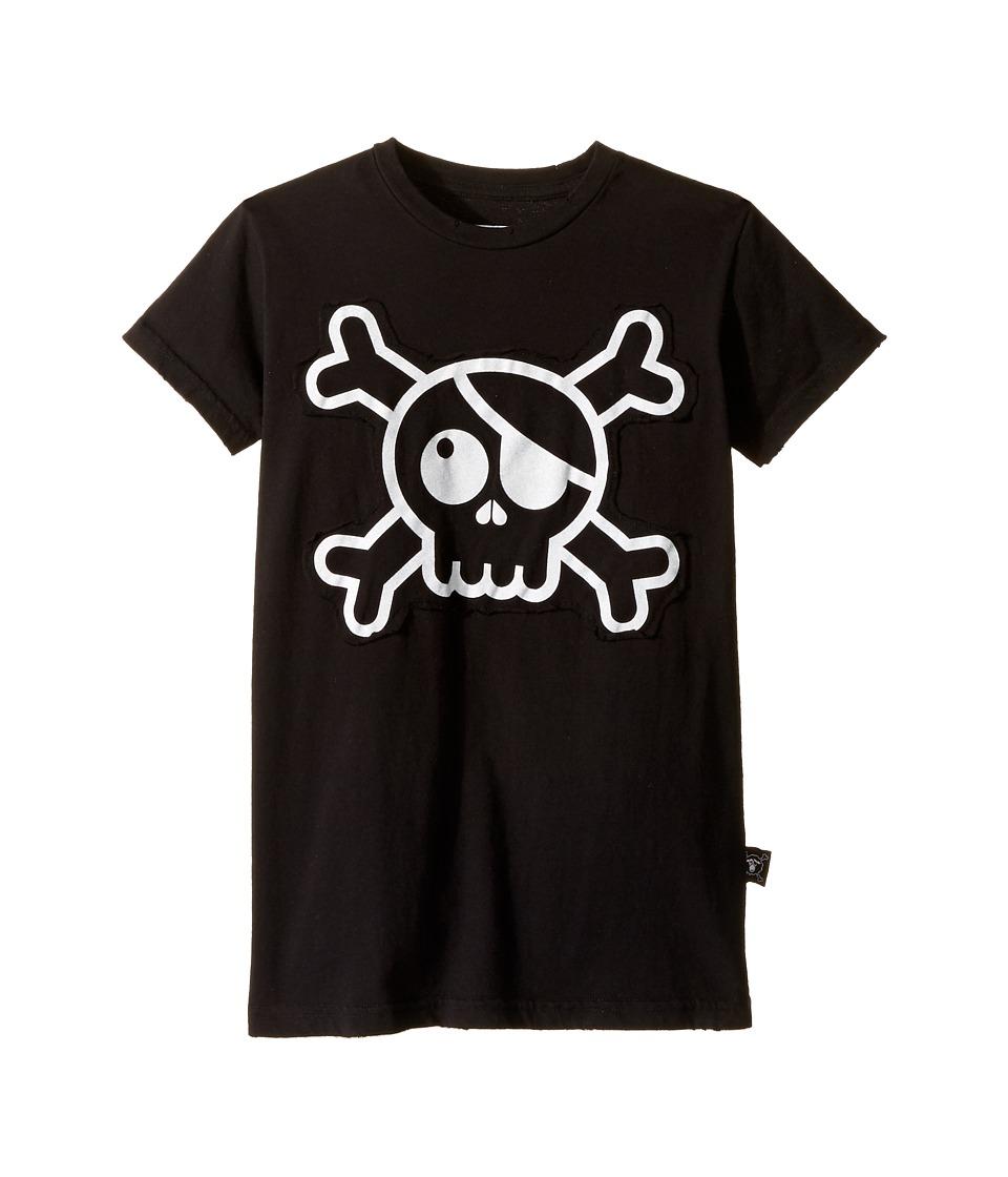 Nununu - Skull Patch T-Shirt (Little Kids/Big Kids) (Black) Kid's T Shirt