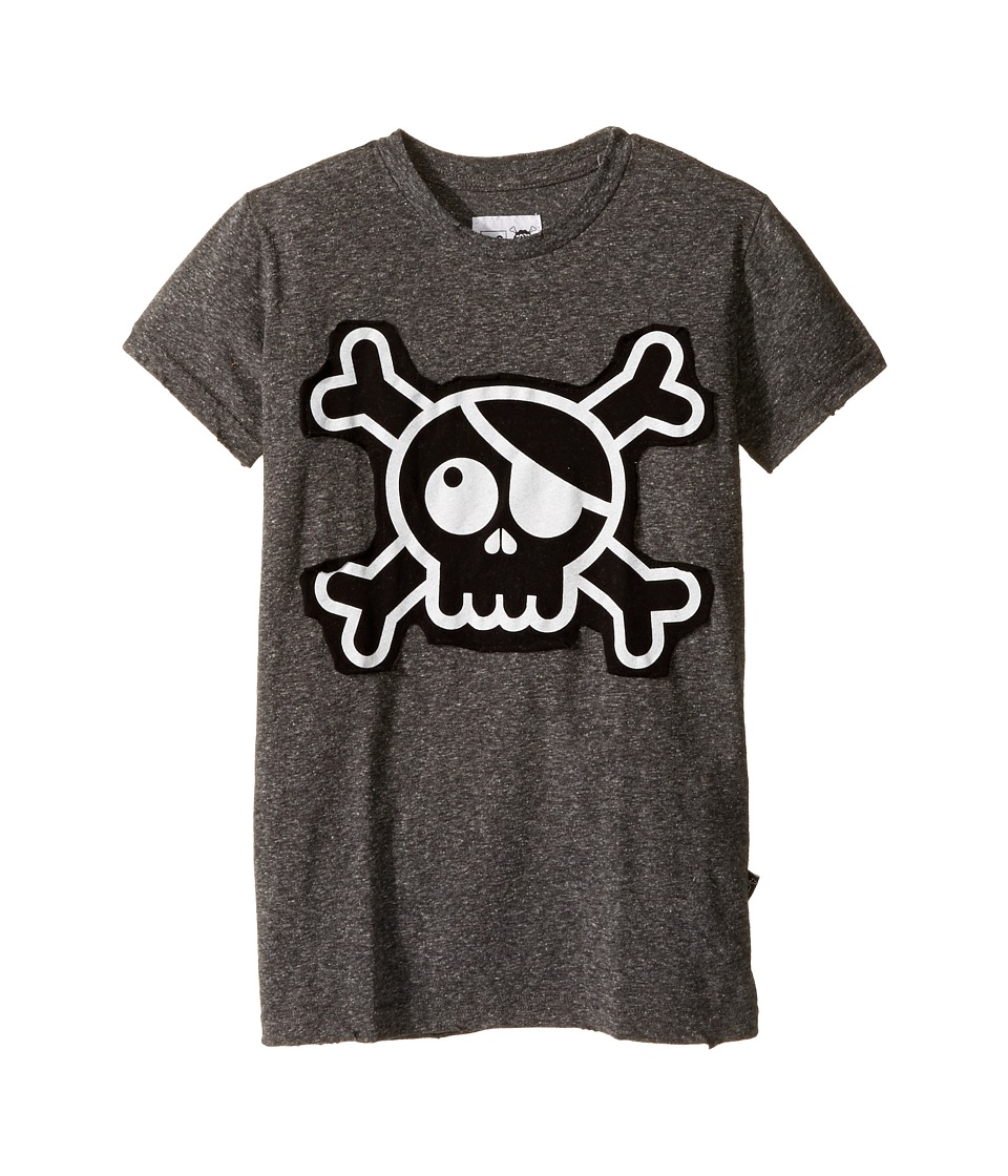 Nununu - Skull Patch T-Shirt (Little Kids/Big Kids) (Charcoal) Kid's T Shirt