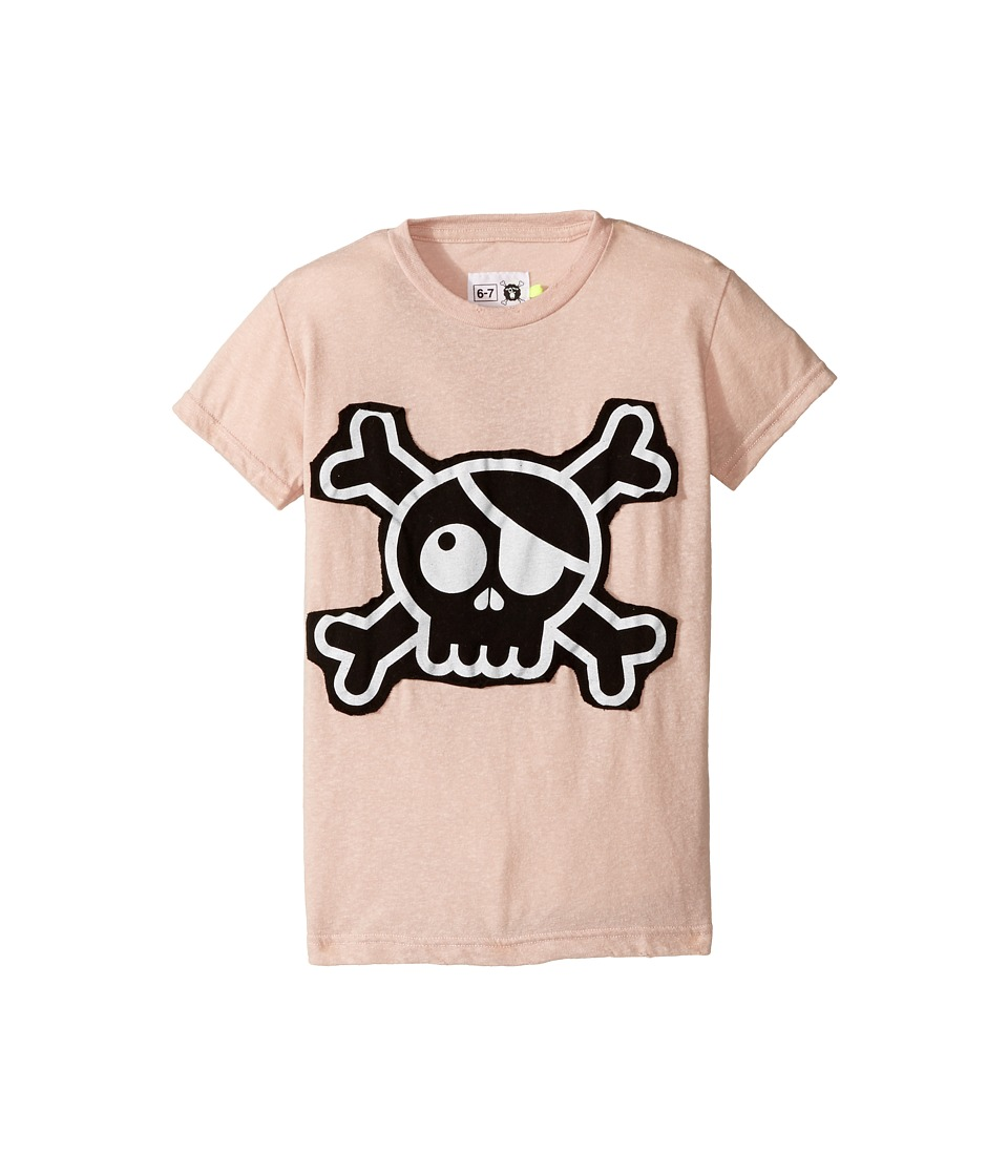 Nununu - Skull Patch T-Shirt (Little Kids/Big Kids) (Powder Pink) Kid's T Shirt