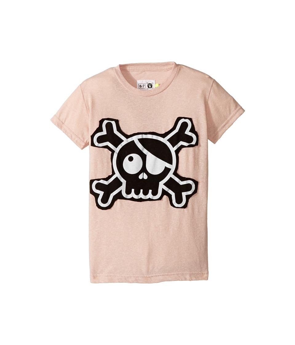 Nununu - Skull Patch T-Shirt (Little Kids/Big Kids) (Powder Pink) Kid's T Shirt