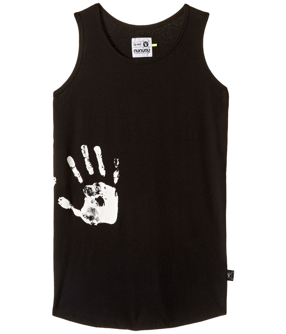 Nununu - Hand Print Tank Top (Little Kids/Big Kids) (Black) Kid's Sleeveless