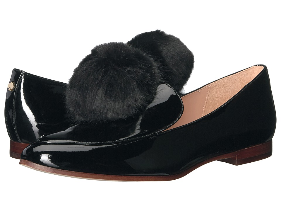 Kate Spade New York Carmelina (Black Patent/Faux Fur) Women